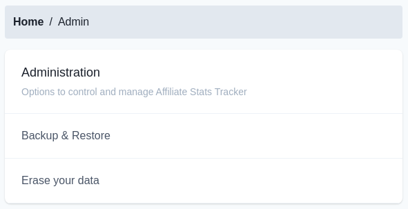 This image has an empty alt attribute; its file name is affiliate-stats-tracker-admin-menu.png